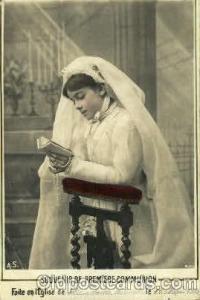 Souvenir De Premiere Communion Brides, Bridal, Wedding, Postcard Post Card  S...