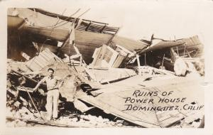 RP; Ruins of Power House, Dominguez, California, PU-1933
