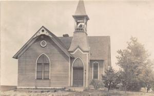 F3/ Pierson Iowa Real Photo RPPC Postcard c1910 M.E. Church