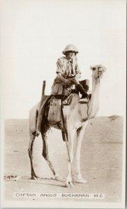 Captain Angus Buchanan Sahara Expedition Africa Unused RPPC Postcard E73