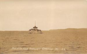 Highgate Springs Vermont~Rock Island Light~Gazebo~1930s Real Photo Postcard~RPPC