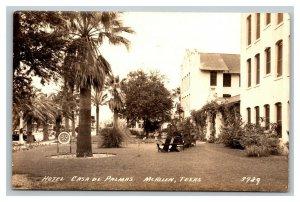 Vintage 1939 RPPC Postcard Hotel Casa De Palmas McAllen Texas