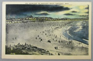 Moonlight On Nantasket Beach, Nantasket MA Postcard (#7171)