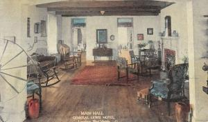 Lewisburg West Virginia General Lewis Hotel Main Hall Antique Postcard K19969