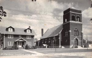 Estherville Iowa~St Patrick Catholic Church & Rectory~Parsonage~1953 RPPC