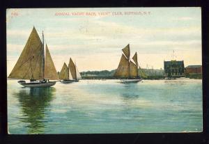 Buffalo, New York/NY Postcard, Annual Yacht Race