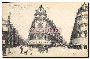 Postcard Old Orleans Street Banners and Rue de la Republique