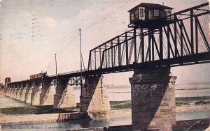 Louisville KY~14th St Railroad Bridge~Pan Handle Thru Truss~Replaced 1919~1910