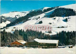 Postcard Modern Crest Voland Savoie Holiday Center The Molliettes