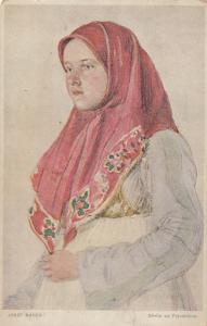 MORAVIA , Czech Republic , 00-10s ; Girl from FRYVOLD County in Slovak Costume