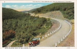 Pennsylvania The Big Fall & Denton Hill On Roosevelt Highway Near Galeton...