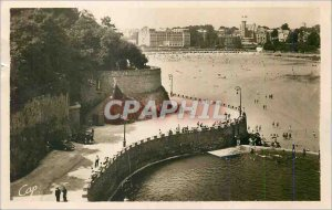 Postcard Modern Lock Dinard the Beach and Promenade des Allies