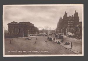 089703 UK St.Georges hall & Lime street Liverpool Vintage PC