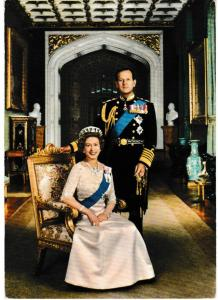 Post Card Royalty H.M. Queen Elizabeth |II and H.R.H. Prince Philip