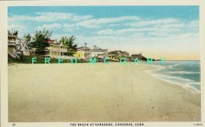 1926 Varadero Cardenas Cuba PC: Deserted Beach on Sunny Day!