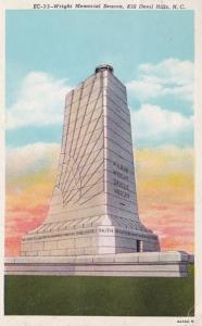 North Carolina Kill Devil Hills The Wright Memorial 1940 Curteich