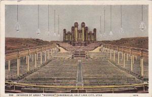 Utah Salt Lake City Interior Of Great Mrmon Tabernacle