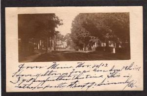 ME Vintage 1903 View DOVER MAINE PMC Dover Foxcroft POSTCARD Private M Card PC