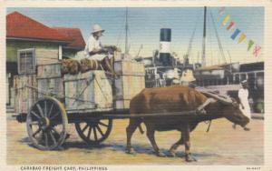 PHILIPPINES,  30-40s ; Carabao Freight Cart