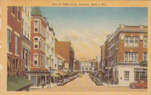 View Of Lisbon Street Lewiston Maine