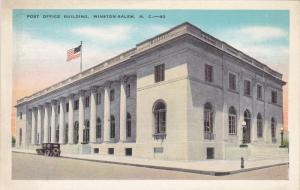 WINSTON SALEM, North Carolina, 1900-1910's; Post Office Building