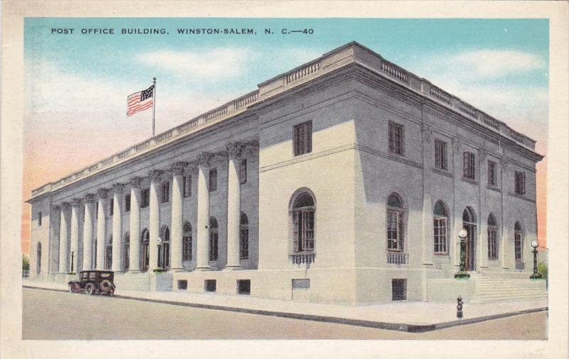 WINSTON SALEM, North Carolina, 1900-1910's; Post Office Building