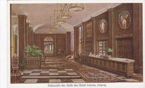 Germany Leipzig Teilansicht der Halle des Hotel Astoria Lobby