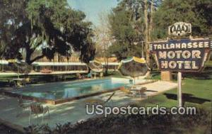 Tallahassee Motor Hotel & Dining Room Tallahassee FL Writing on back