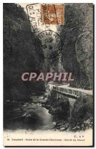 Old Postcard Dauphine Route Grande Chartreuse Entree Desert