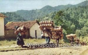 Chichicastenango Guatemala, Central America Pottery Carrier Chichicastenango ...