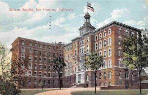 German Hospital San Francisco California 1910 postcard