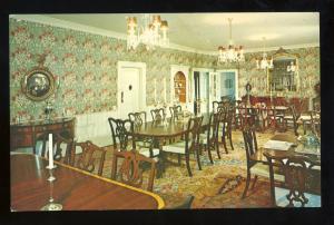 Deerfield, Massachusetts/MA/Mass Postcard, Dining Room, Deerfield Inn
