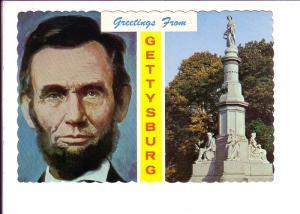 Grettings from  Gettysburg  Pennsylvania, Lincoln Portrait