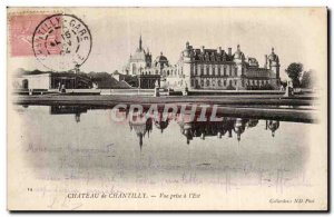 Old Postcard Chantilly Castle View taken in the & # 39Est