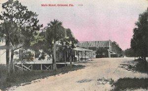 Main Street Scene ORMOND Florida c1910s Vintage Postcard