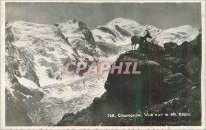 Modern Postcard Chamonix View of Mont Blanc Chevre