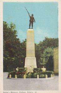 CHATHAM, Ontario, Canada, 1910-1930s; Soldier's Memorial