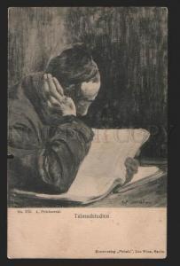 117257 JEWISH scene Talmud study by L. PILICHOWSKI Vintage PC