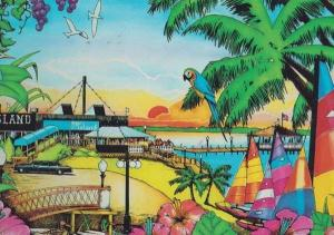 Fagers Island Parrott Ocean City Maryland Beer Theme Park American 80s Postcard