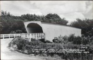 NW of Winterset IA Covered Bridge Real Photo Postcard