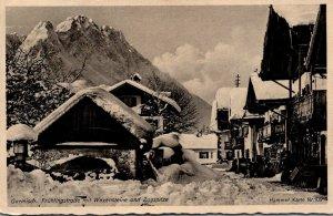 Germany Garmisch FruehlingstrasseMit Waxensteine und Zugspitze 1951