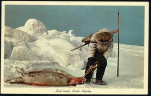 Arctic Alaska, Bloody Seal Hunt, Eskimo (1967) Red Cancel