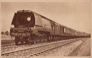 The Bournemouth Belle Leaving London Waterloo Station Antique Train Postcard