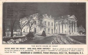 Washington DC White House at Night Patent Lawyer Attorney Ad Vintage PC AA27840