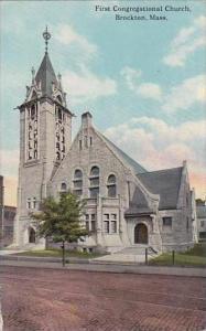Massachusetts Brockton First Congregational Church 1915