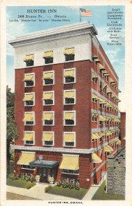 F50/ Omaha Nebraska Postcard c1910 Hunter Inn Dodge Street