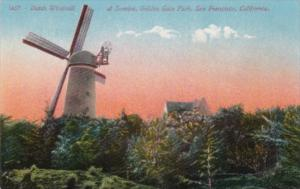 California San Francisco Dutch Windmill At Sunrise Golden Gate Park
