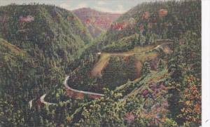 Arizona Oak Creek Canyon Switchbacks Curteich