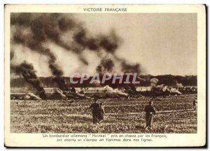Postcard Modern Army A Heinkel bomber chased by the French was shot and s & #...