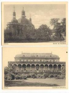 2 Cards, Kirche Am Karlshof, & Lustschloss Belvedere, Prag, Czech Republic, 1...